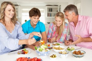 Family counseling suggests eating together